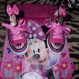 Other - Customized Minnie Mouse sneakers(NWOT)